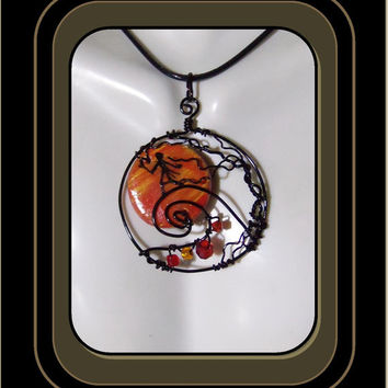 Pumkin Jack, Nightmare before Christmas jewelry, Jack pendant, jack the pumpkin king jewelry, jack sally stitches jewelry, Halloween Jewelry