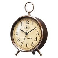 Crosley Analog Clock with Finial - Antique Bronze