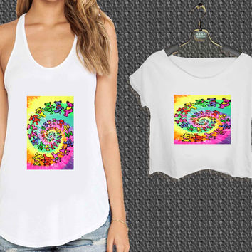 Grateful Dead Bears For Woman Tank Top , Man Tank Top / Crop Shirt, Sexy Shirt,Cropped Shirt,Crop Tshirt Women,Crop Shirt Women S, M, L, XL, 2XL*NP*
