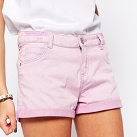Brave Soul Five Pocket Denim Short With Turn Up Hem