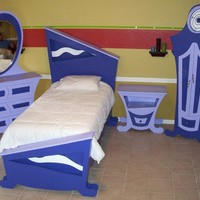 Whimsical Wonderland Twin Bedroom Suite by quentinhd on Etsy