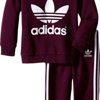 adidas Originals Kids Trefoil Set (Infant/Toddler) Merlot/White - Zappos.com Free Shipping BOTH Ways