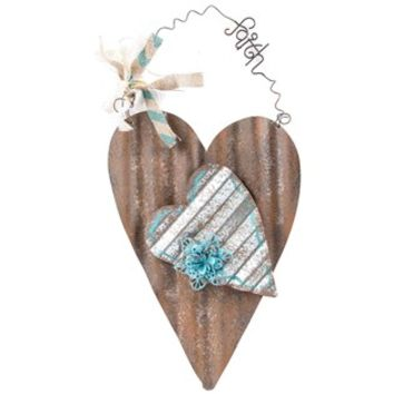 Rust & Turquoise Corrugated Metal Heart Wall Decor | Shop Hobby Lobby