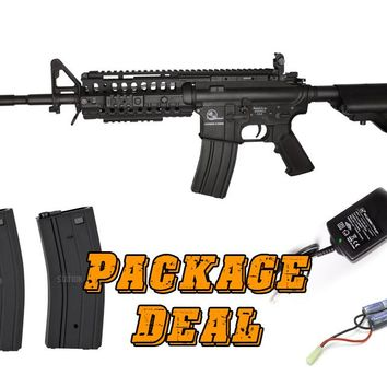 ARMALITE M15 W/ A.R.M.S. LICENSED SELECTIVE INTEGRATED RAIL PROLINE AIRSOFT RIFLE COMBO PACKAGE