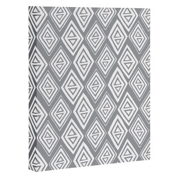 Heather Dutton Diamond In The Rough Grey Art Canvas