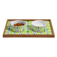 Heather Dutton Abacus Emerald Pet Bowl and Tray