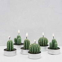 Mini Cactus Wax Tealight Candle Set