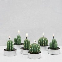 6-PC Mini Cactus Wax Tealight Candle Set