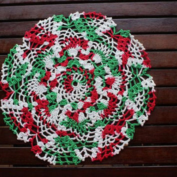 Home Decor - Doily - Elegant Houseware - Doily  In Christmas Color -  Christmas Decor