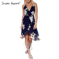 Simplee Apparel Sexy evening wedding party dress Floral women summer dress Boho backless vintage girl dress vestidos de fiesta