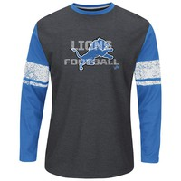 Majestic Detroit Lions Down to the Wire Thermal Tee