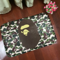 Cool Green Bathing Ape Print  Anti-skid Alphabet Bathroom Carpet Living Room Bedroom Mat