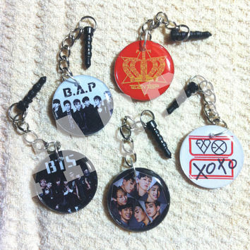 KPOP Mini Phone Charm (EXO, Vixx, BigBang, Nu'est, Bangtan Boys, Teen Top, B.A.P, + more)