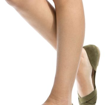 Olive Faux Suede Pointed Toe Flats @ Cicihot Flats Shoes online store:Women's Casual Flats,Sexy Flats,Black Flats,White Flats,Women's Casual Shoes,Summer Shoes,Discount Flats,Cheap Flats,Spring Shoes