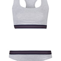 Sporty Stripe Crop Top and Pants - Topshop