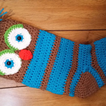 Ready to ship.   Woodsy Hoot Owl Christmas Stocking