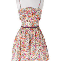 Tulip Front Floral Dress