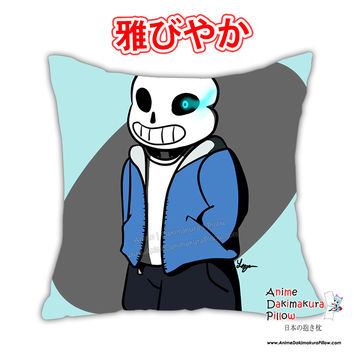 New Sans Anime Dakimakura Square Japanese Pillow Cover Custom Designer DragonTamerSuccubus ADC343