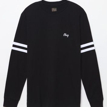 Obey Era Long Sleeve T-Shirt - Mens Tee - Black