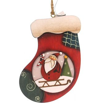 Holiday Ornaments WOOD ORNAMENTS Wood Package Holiday 144259 P