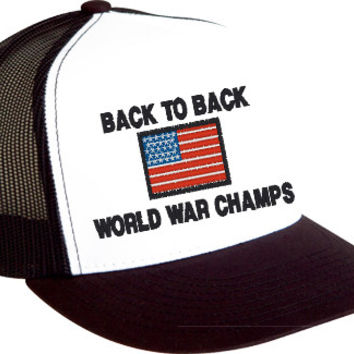 Back to Back World War Champs USA Mesh Snapback Cap