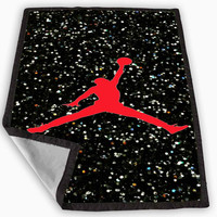 Nike Air Jordan Logo Blanket for Kids Blanket, Fleece Blanket Cute and Awesome Blanket for your bedding, Blanket fleece *