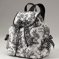 Black Toile Backpack Very Cute Boutique Style