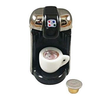 """R"" CUP COFFEE MAKER WITH REMOVABLE COFFEE CUP AND ""R"" CUP LIMOGES BOXES"