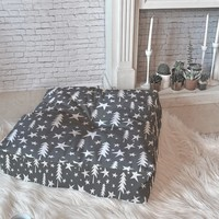Heather Dutton Wish Upon A Star Grey Floor Pillow Square