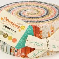 "PERSIMMON Jelly Roll from Basic Grey for  Moda, 2.5-Inch Strips, Fabric Strips, 2.5"" Strips, BasicGrey Fabric, Contemporary Autumn Fall"