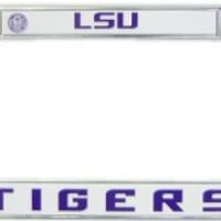 LSU Tigers Chrome License Plate Frame