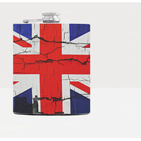 Union Jack - British flag - Whiskey flask - Hip flask - 21st birthday gift - Groomsmen gift - Gift for him - 7oz stainless steel flask