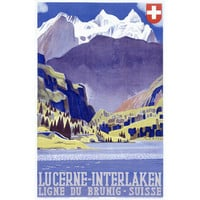 Swiss Alps Lucerne Travel Wood Sign