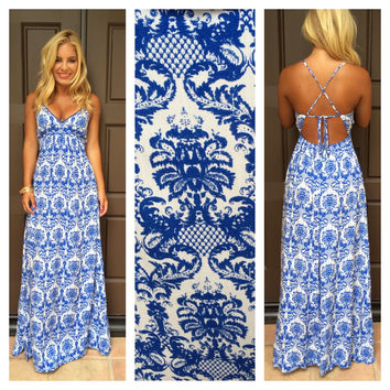 Fontainebleau Printed Maxi Dress