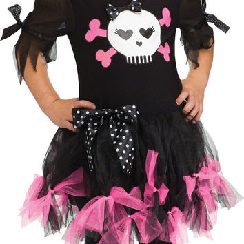 girl's costume: sally skully | small