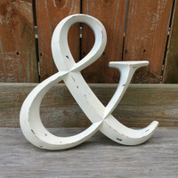 Distressed ampersand, ampersand sign, metal ampersand, Bronze letters, wall letters, metal wall decor letters, hanging wall letters
