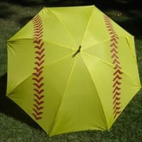 Softball Girls Fast Pitch Slow Pitch Golf Umbrella 60""