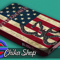 browning deer flag US (ir) 3D iPhone Case for iPhone 4/4S, iPhone 5/5S and,Samsung Galaxy S3, S4
