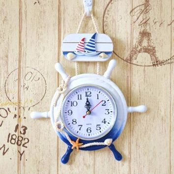 Large Creative 3d Art Natural Wood Wall Clock Modern Design Silent Nordic Kitchen Big Clock Klok Wall Clocks Home Decor 50CW339