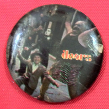 Vintage 80s THE DOORS Strange Days Pin Badge Pinback Button
