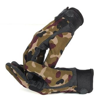 Full Finger sports Gloves Men Outdoor Sports Mittens Camouflage Airsoft Shooting Hunting Gloves