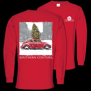 Southern Couture Preppy Christmas Bug Holiday Long Sleeve T-Shirt