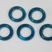 5 Blue Agate 13mm Donuts Gemstones 9.85 carat