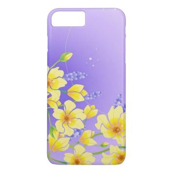 Yellow Bloom Flowers iPhone 7 Plus Case