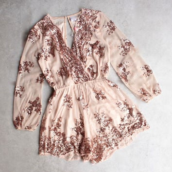 public desire rose gold sequin romper