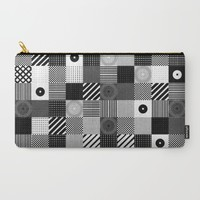 B & W Pop Pattern Carry-All Pouch by Dood_L