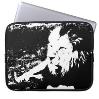 Lion in Black and White Laptop Sleeve