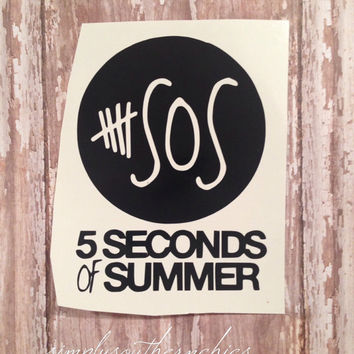 5SOS Vinyl Decal - Perfect for iPhone, Laptop, Notebook, or Anything Else!!!