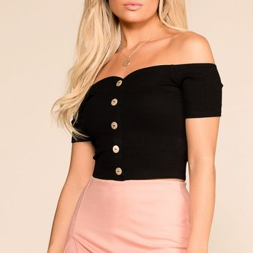 Birdie Black Off The Shoulder Top