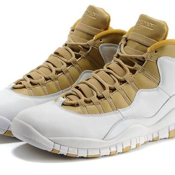 [Free Shipping]Nike Air Jordan X 10 Retro  Youth White  310805 142 Basketball Sneaker